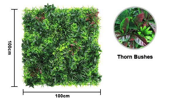 Fake Thorn Bush Wall Plants
