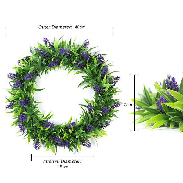 Fake wreath of lavender foliage