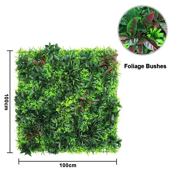 Faux foliage wall 1m x 1m