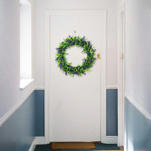 Indoor doorway plant wreath