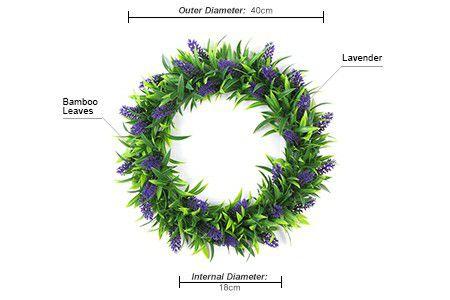 Lavender artificial plants wreath
