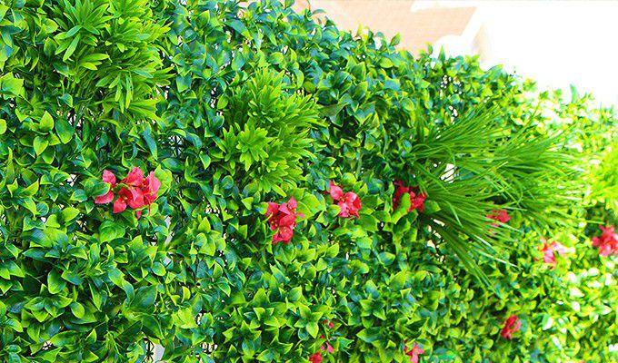 Outdoor UV Protected Fake Greenery Wall
