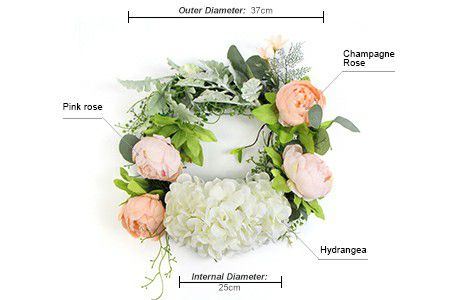 Specification of artificial silk wreath