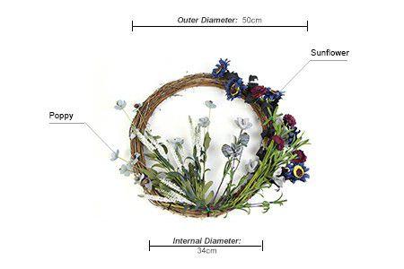 Specification of silk flower garlands