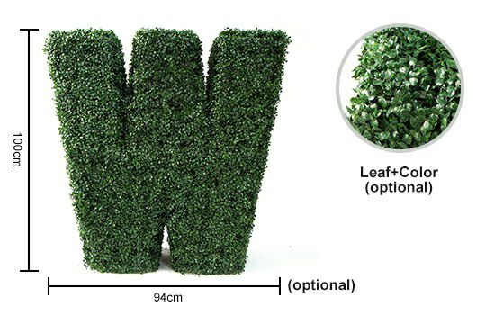 Topiary letter W details
