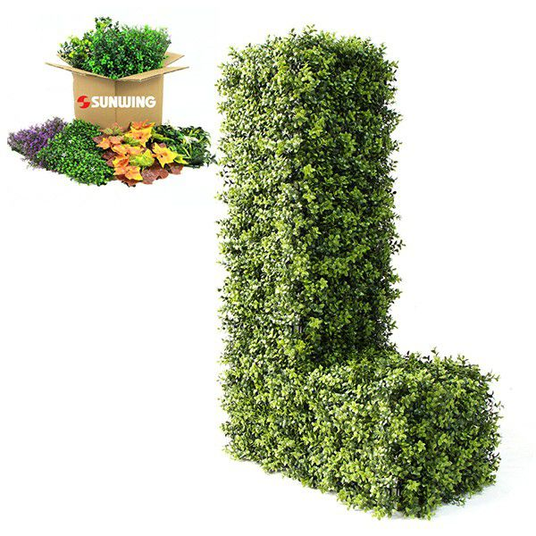 Various hedge foliage for topiary letter L
