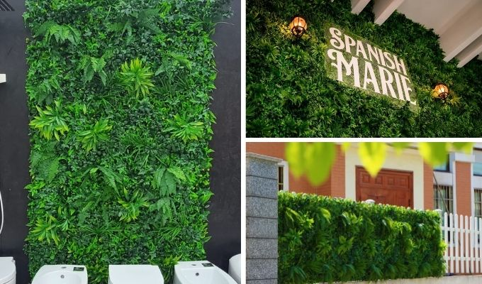 artificial green wall for indoor and outdoor decor