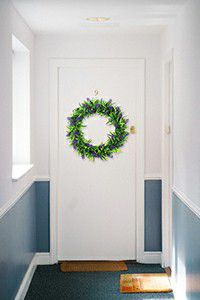 artificial leaf wreath for indoors