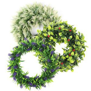 artificial wreaths with PE foliage