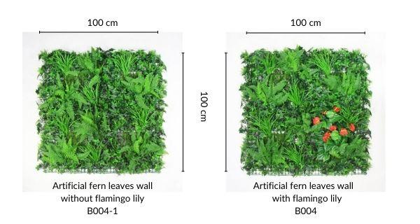 faux green wall B004 & B004-1