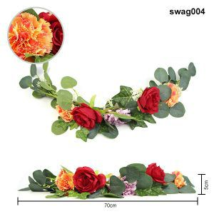 faux swags used for wedding decor