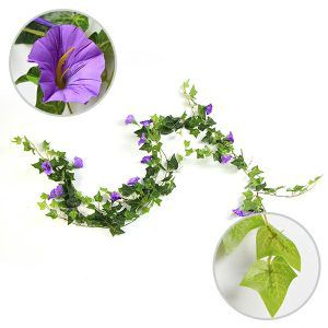 floral hanging garlands with purple heads