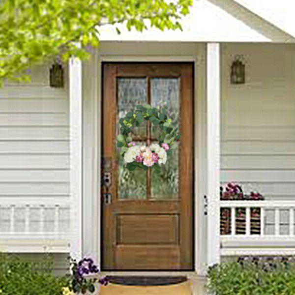 front door wreath scene