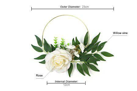 gold-plated iron wire silk flower wreath