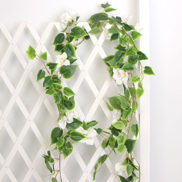hanging garlands with white flowers