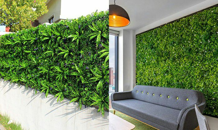 outdoor and indoor artificial vertical garden landscaping