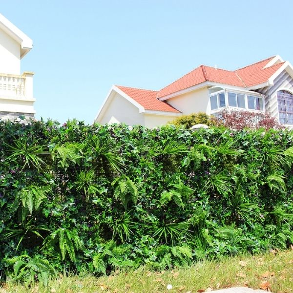 outdoor application of artificial plants wall B004-1