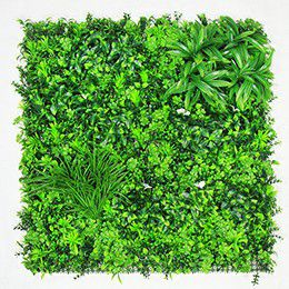 outdoor artificial greenery wall