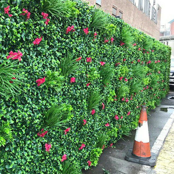 outdoor fake plants wall