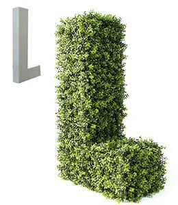 topiary letter L with foam structure