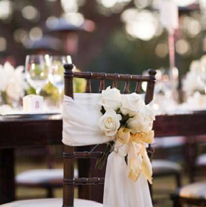 chair swags for wedding