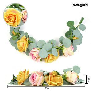 yellow floral swags