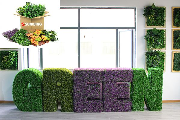 Artificial Boxwood Topiary Letter with hedges