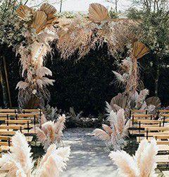 Wedding Pampas Artificial Landscape