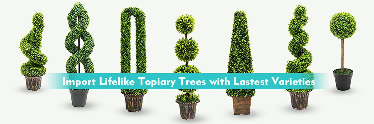 artificial topiary trees with export quality
