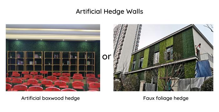 Artificial Hedge Walls