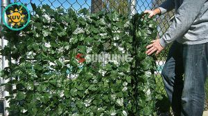 Outdoor Faux Privacy Leaves Fence