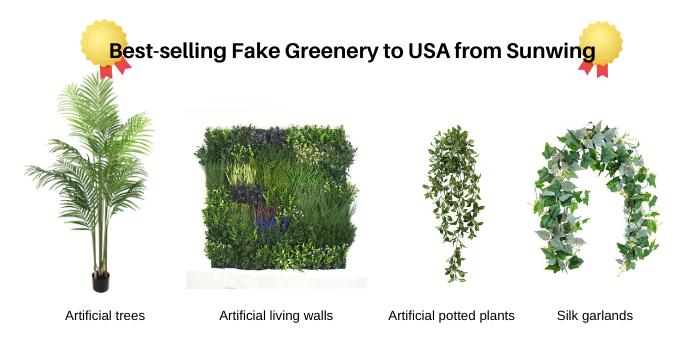 Trendy Fake Greenery to USA from Sunwing