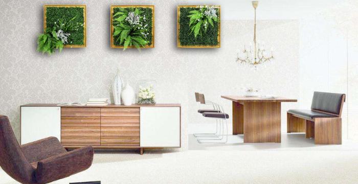 art framed artificial plants wall