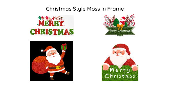 christmas style reindeer moss frame
