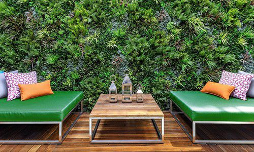 green wall panels outdoor application