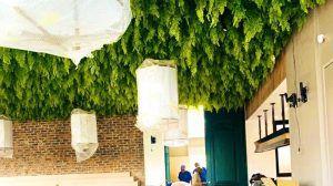 indoor artificial hanging plants landscape