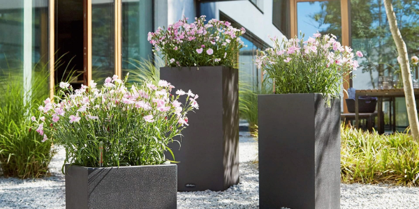 Artificial Flower Planters for Pathways