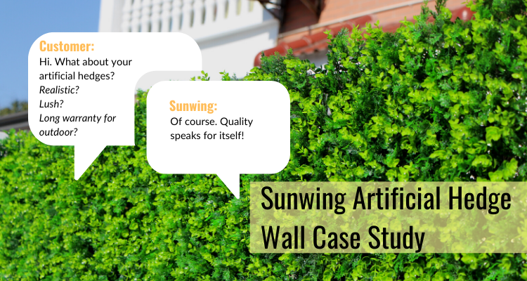 Case Study-Suwing Outdoor Artificial Hedge Wall