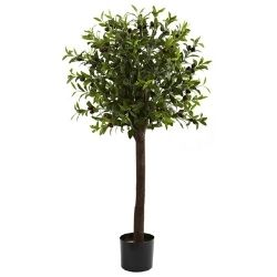 artificial olive ball tree in pot