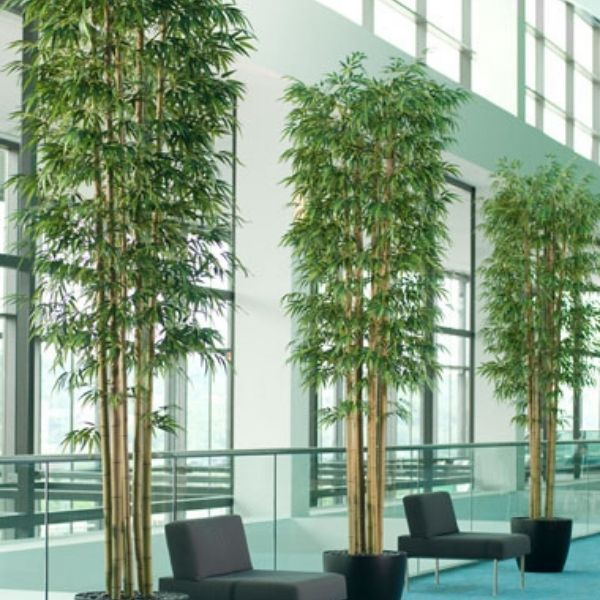 decorative and functional indoor artificial bamboo plants