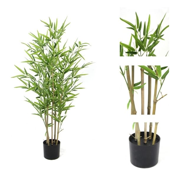 details of artificial potted trees