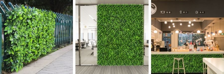 Faux Greenery Panels Applications