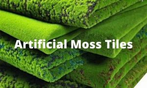 realistic artificial moss tiles for wall or floor decor
