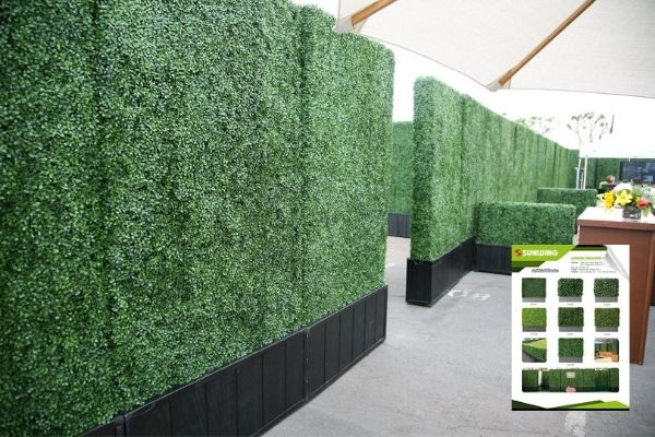 artificial boxwood hedging wall supplier