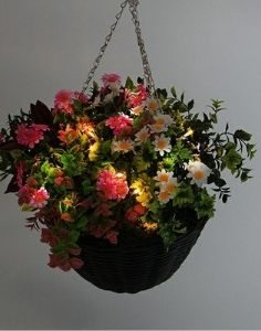 artificial floral baskets for hanging