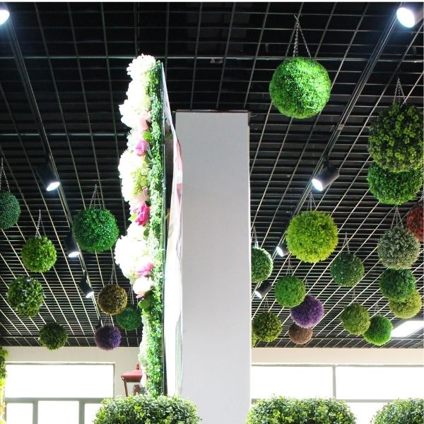 artificial hanging floral topiary hanging