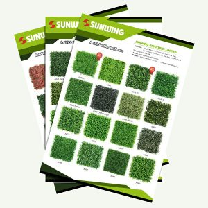 artificial hedges panels for fence and wall decor