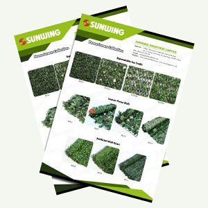 artificial ivy fence for outdoor privacy