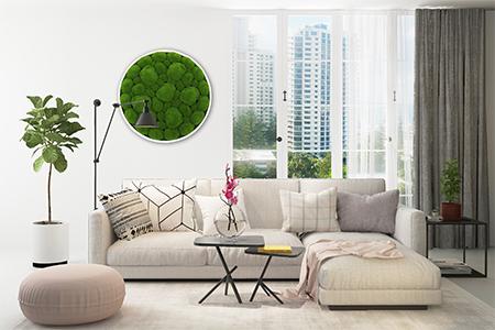 artificial moss frame decor