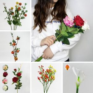 artificial plastic flowers for outdoors